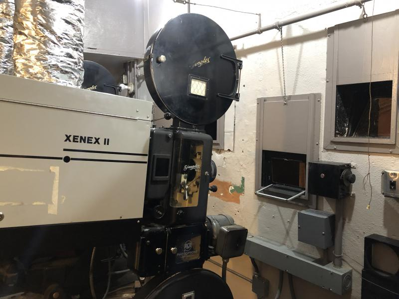 One of the Renaissance Theatre's 35mm projectors that was restored for its 90th anniversary this year.