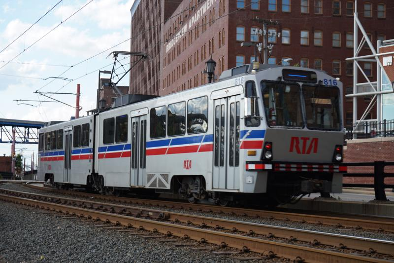 photo of RTA blue line train