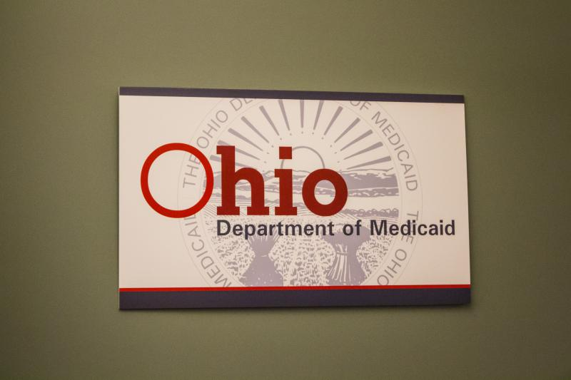 Photo of the Ohio Department of Medicaid sign