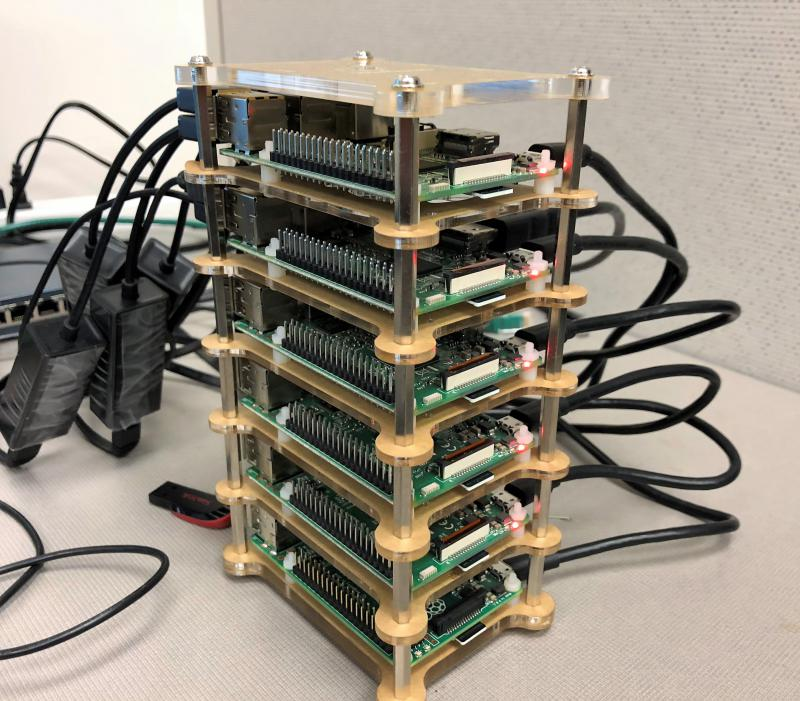 A test-bed being developed at the University of Akron uses blockchain technology to link computers destined for deep space. Each layer represents a node in a decentralized computer network.