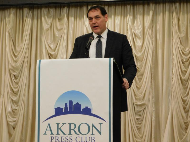 Photo of Zach Space at the Akron Press Club