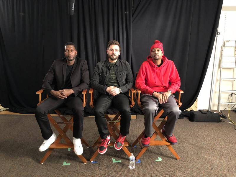From left to right, Editor Chris Mitchell, Director Tim Newfang and Bone Thugs-N-Harmony member Krayzie Bone at the Cleveland International Film Festival.