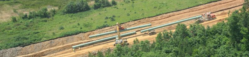 Buildng a natural gas pipeline