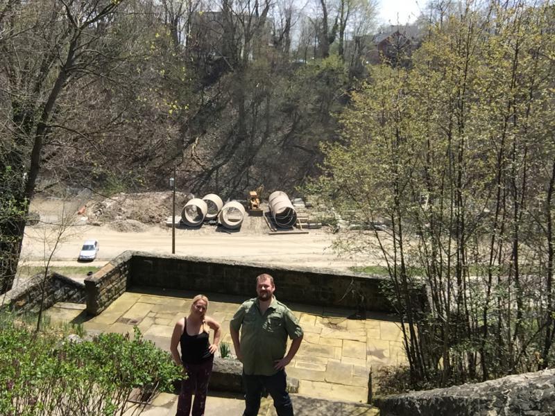 photo of Karen Noel, JT Buck, Glendale Steps, Glendale Park