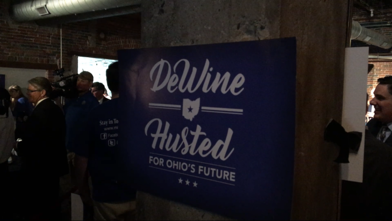 photo of Dewine Husted campaign sign
