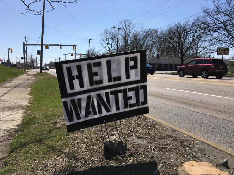 photo of help wanted sign