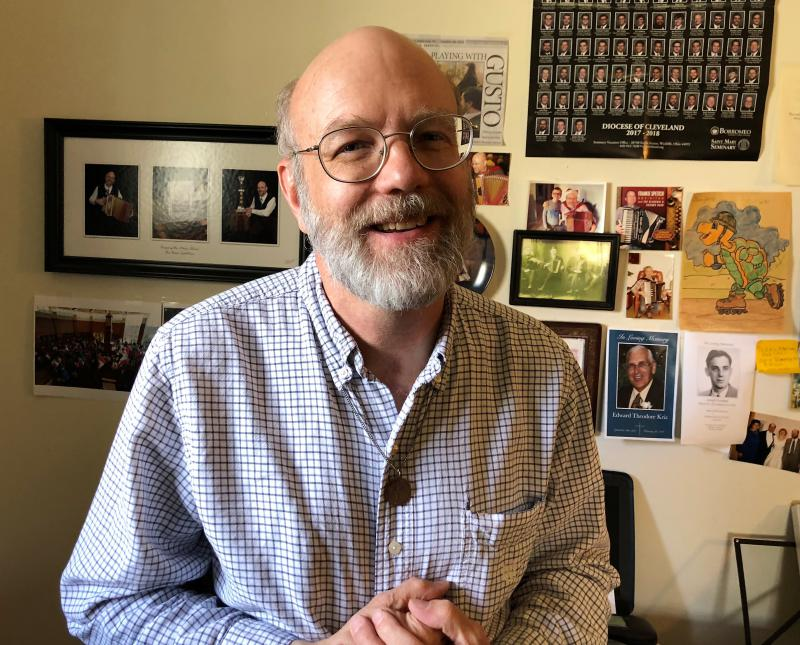 Jerry Dusa is a professional musician in Akron and winner of a 2017 Trailblazer award from the Summit County ADM Board for his work as a mental health advocate.