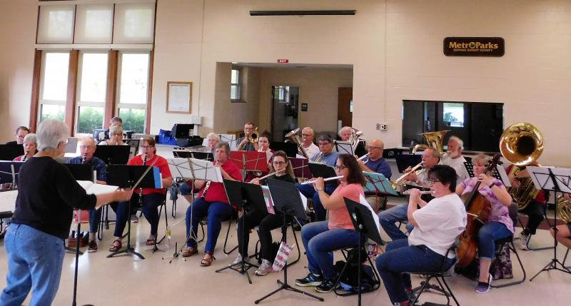 The Metro Parks Ensemble practices at the Goodyear Heights Metro Parks lodge