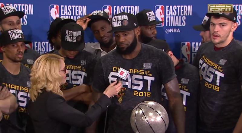 The Cavs beat the Celtics in 7 games to win the Eastern Conference Championship