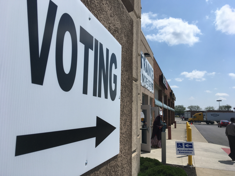 photo of voting signs