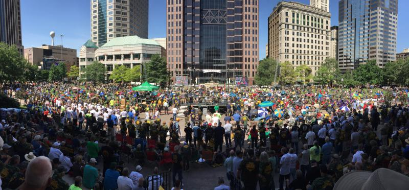 photo of pension rally