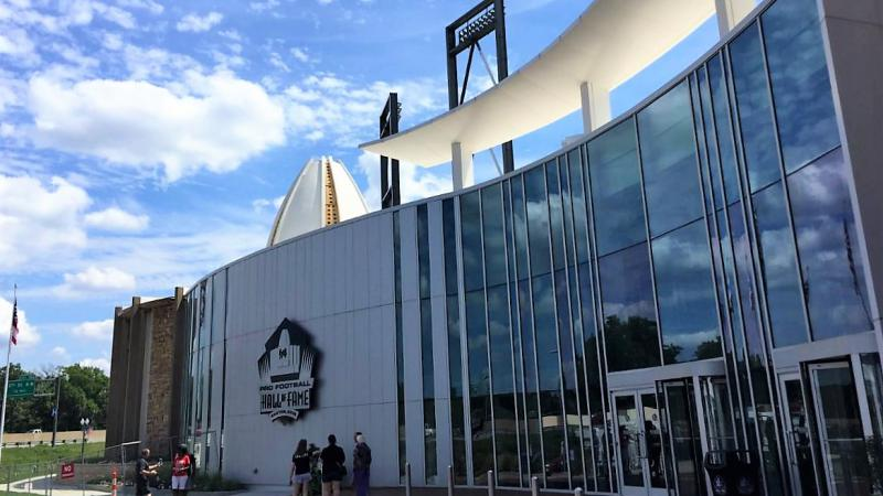 Front of Pro Football Hall of Fame museum