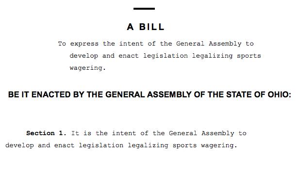 photo of sports betting bill language