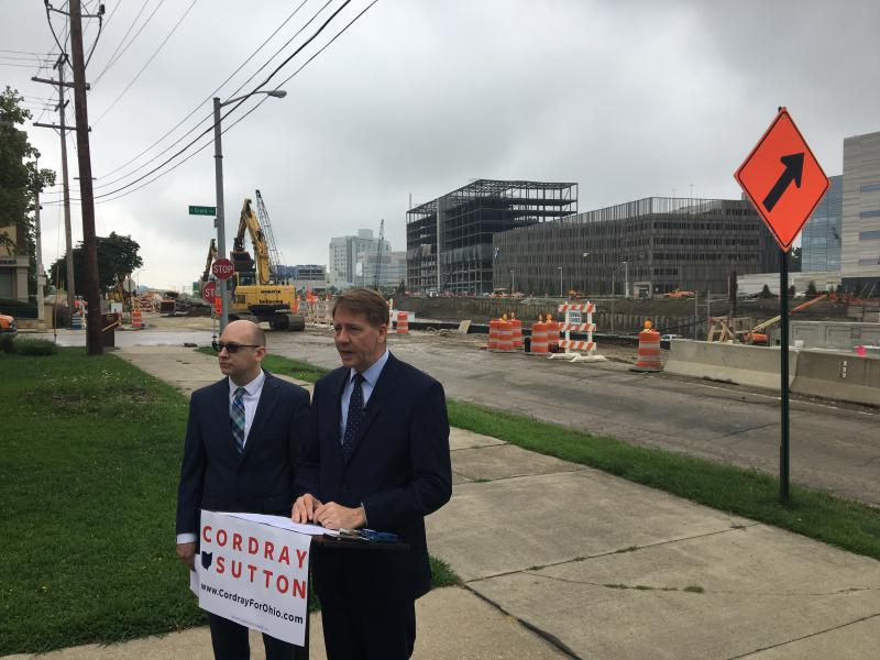 photo of Richard Cordray at construction site