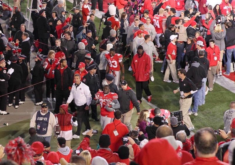 photo of Ohio State University Coach Urban Meyer at a 2012 game