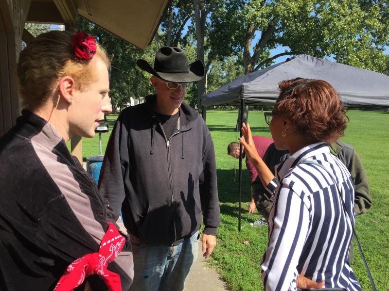 photo of Sage Lewis, Andrea Fahey, Tara Samples