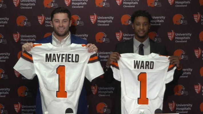 Top picks Baker Mayfield (left) and Denzel Ward are providing a spark for the Browns