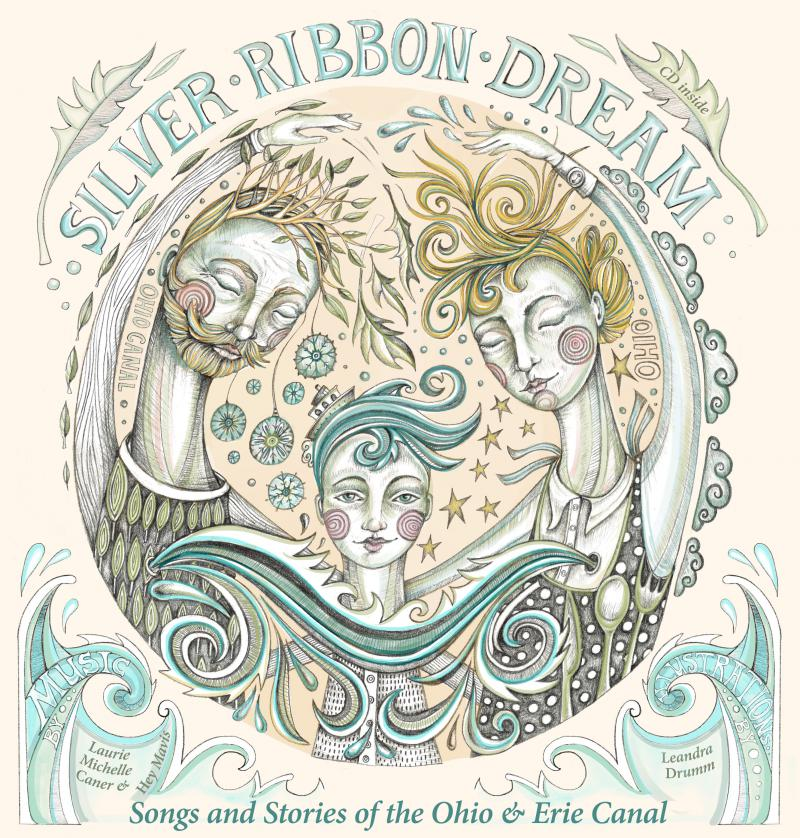 """Laurie Caner of Hey Mavis and artist Leandra Drumm created """"Silver Ribbon Dream"""""""
