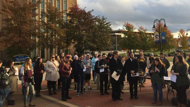 Kent State vigil for shooting victims in western PA