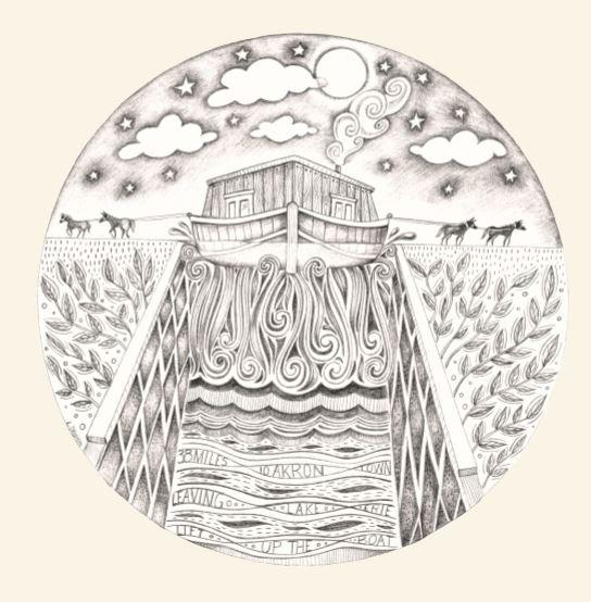 """Leandra Drumm's illustration of Caner's song """"Lift Up The Boat"""""""