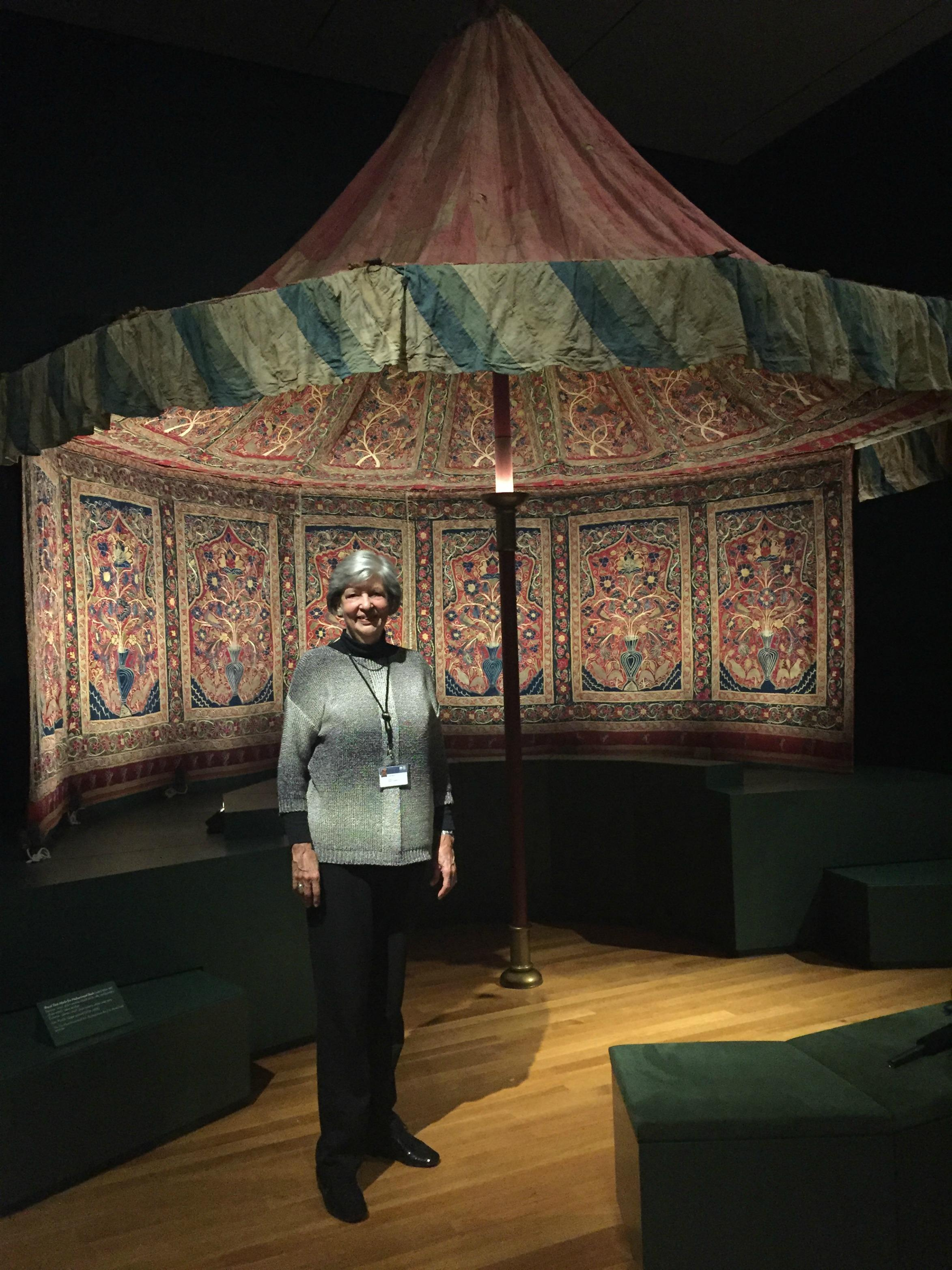 Louise Mackie is curator of textiles and Islamic art at the Cleveland Museum of Art. & Opening a Tent Flap for a Unique View of Middle Eastern Culture | WKSU
