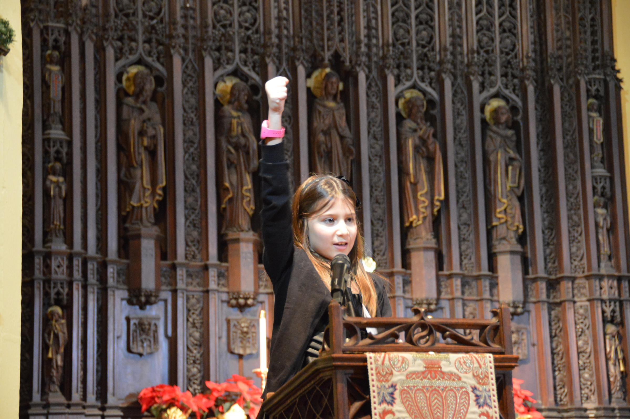 ohio students are recognized for speeches and work honoring martin third grader elena earley from columbus shared an essay praising dr martin luther king jr from the pulpit of trinity episcopal church on capitol square