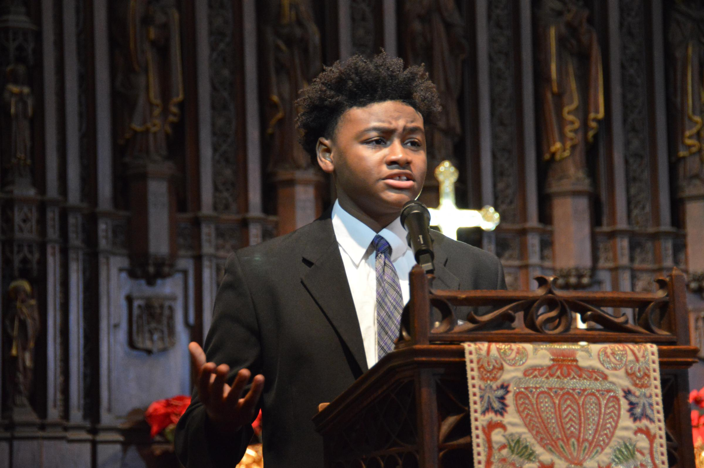ohio students are recognized for speeches and work honoring martin freshman playon patrick from columbus shared an essay praising dr martin luther king jr from the pulpit of trinity episcopal church on capitol square in