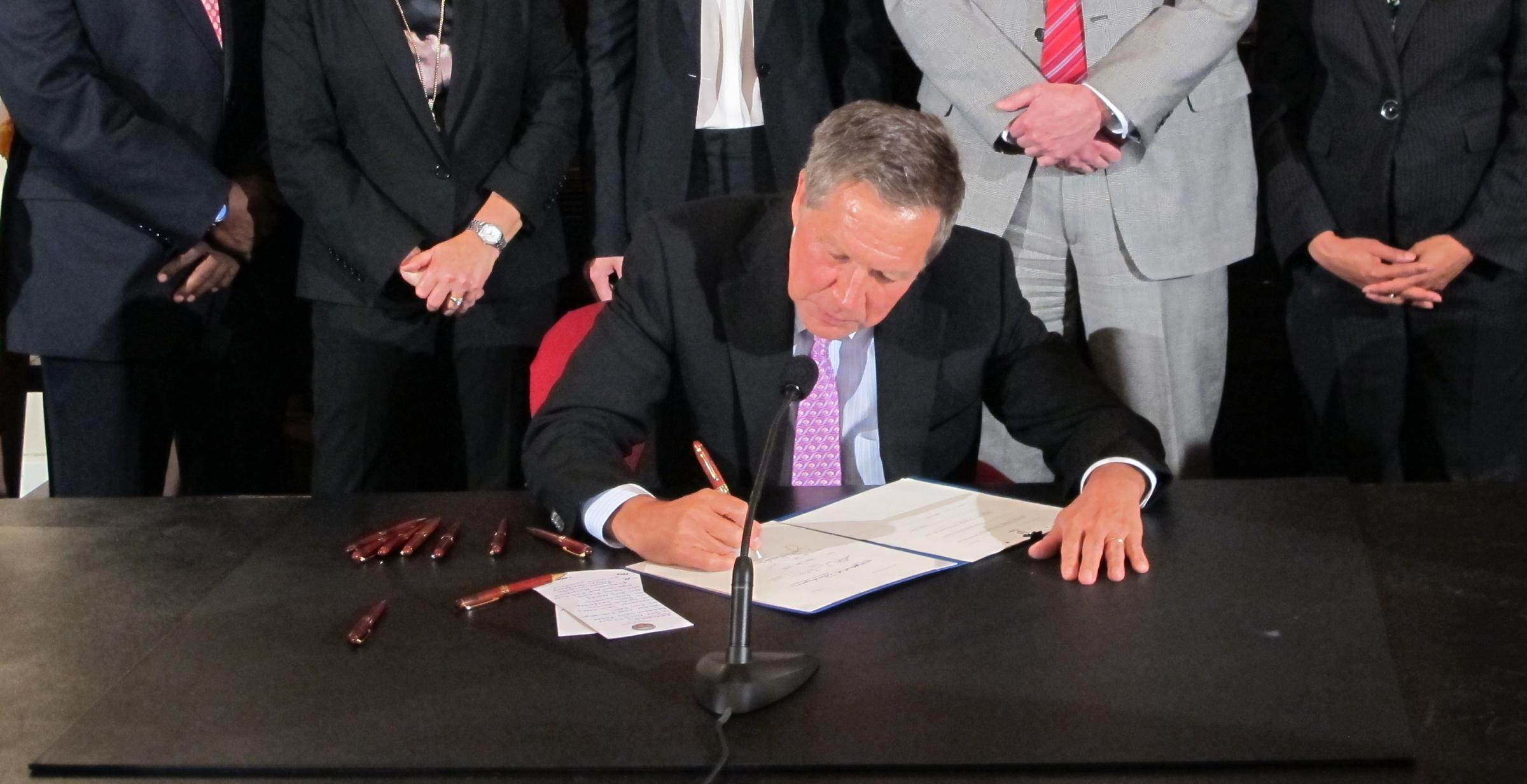 Gov. John Kasich signs Down syndrome abortion ban