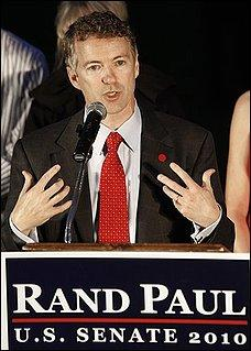 Republican Rand Paul speaks following his election to the U.S. Senate in 2010.