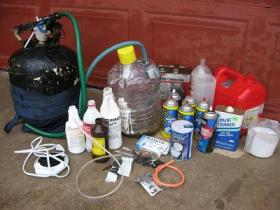 The inside of a meth lab discovered by police in Barren County, Kentucky.