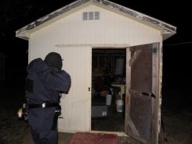 A meth lab bust in Barren County, Kentucky