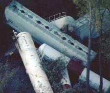 A train derailed in southern Jefferson County near the border with Hardin County. Crews have been cleaning up a chemical fire that resulted from the accident.