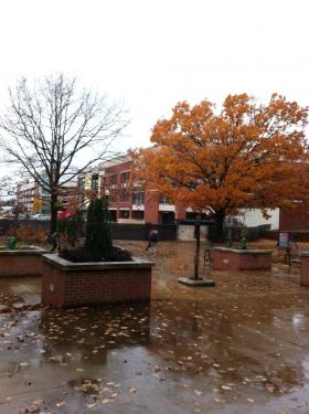 Like in most of our region, Monday has been a wet, cold day on the campus of WKU.