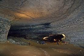 A view from inside Mammoth Cave National Park