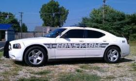 A car driven by the Pulaski County Constable