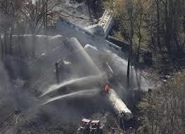 A train derailment Monday morning in southern Jefferson County led to a chemical leak and fire.
