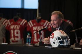 Bobby Petrino spoke at his introductory news conference at WKU.