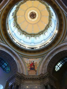 The dome at the state capitol building in Frankfort