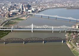 An artist's rendering of what the proposed Ohio River bridge project would look like.