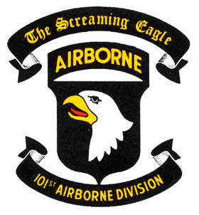 The emblem for the 101st Airborne Division, based at Ft. Campbell