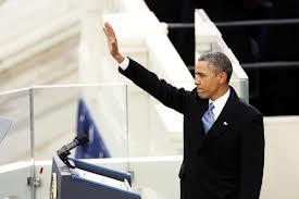 President Obama waved to the crowd Monday during his second inaugural address.