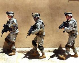 Soldiers from Ft. Campbell's 101st Airborne Division in Afghanistan