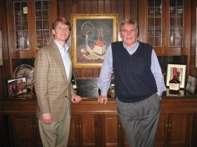 Rob Samuels (left), and Bill Samuels, Jr. at Maker's Mark offices in Loretto