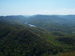 View from Pinnacle Overlook within Cumberland Gap National Historical Park