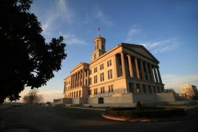 The Tennessee State Capitol building in Nashville