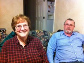 Brenda and Tony Bradley, at their home in Hardin County.
