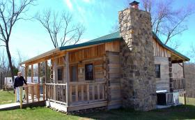 The Uncle Pen Cabin, a replica of the cabin once lived in by bluegrass legend Bill Monroe