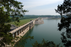Wolf Creek is the largest dam east of the Mississippi River
