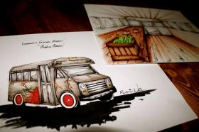 An artist's rendering of a mobile farmers market planned for April in Bowling Green.