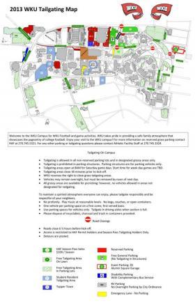 2013 WKU Tailgating Map